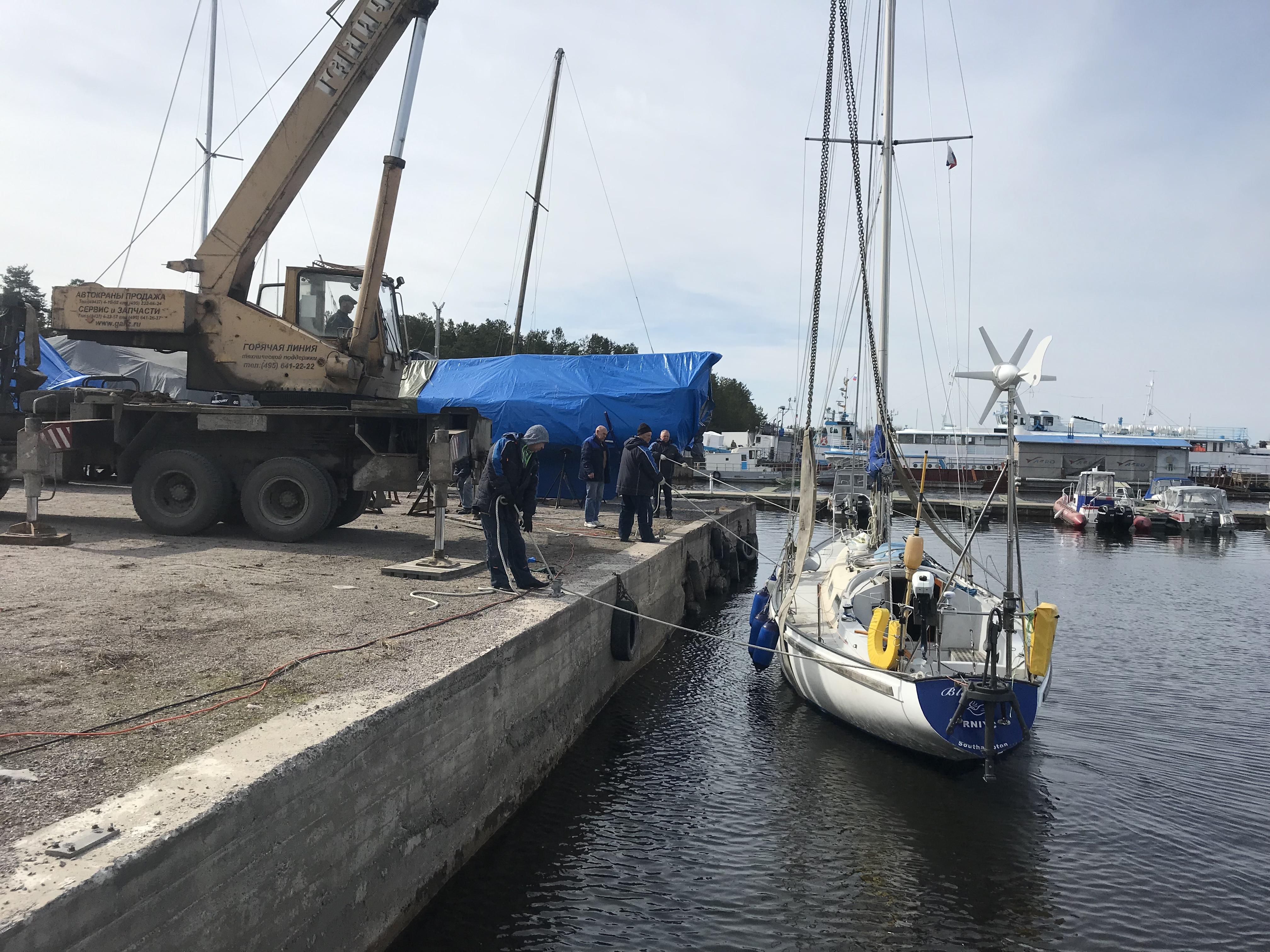 Crane And Boat